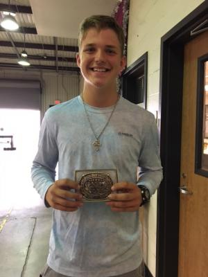 Ryan McCormick won 8th High Point Individual at the Rice Festival Lifestock judging.