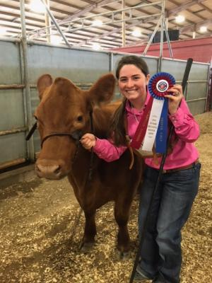Ryleigh won her ORB class and was Reserve Champion division winner!!