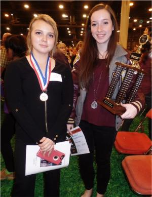 Shauna Harrell was awarded a Gold Medal and Katelynn Davis received Best in Show trophy.