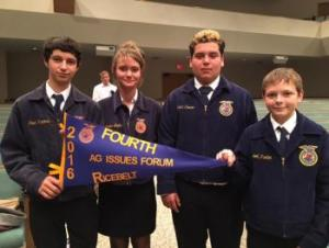 Ag Issues Forum Team placed 4th