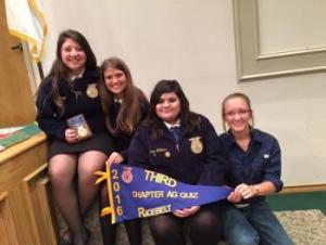 Chapter Ag Quiz Team placed 3rd Overall