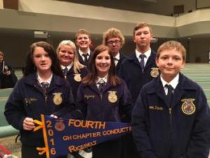 Greenhand Chapter Conducting Team placed 4th Overall