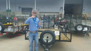 Matt Holston received a Blue Ribbon on his trailer at the HLSR.
