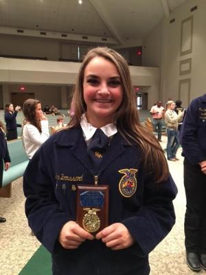 Amy Broussard - 5th high point individual Greenhand Quiz