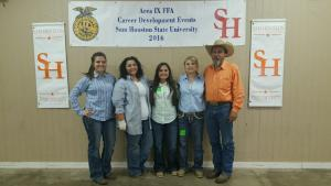 Livestock Judging Team - Chandler Caswell, Jayde Jones, Patience Sizemore, Lindsey Campbell & Advisor David Sheffield