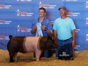 Ryan McCormick placed 12th with his barrow and made sale.