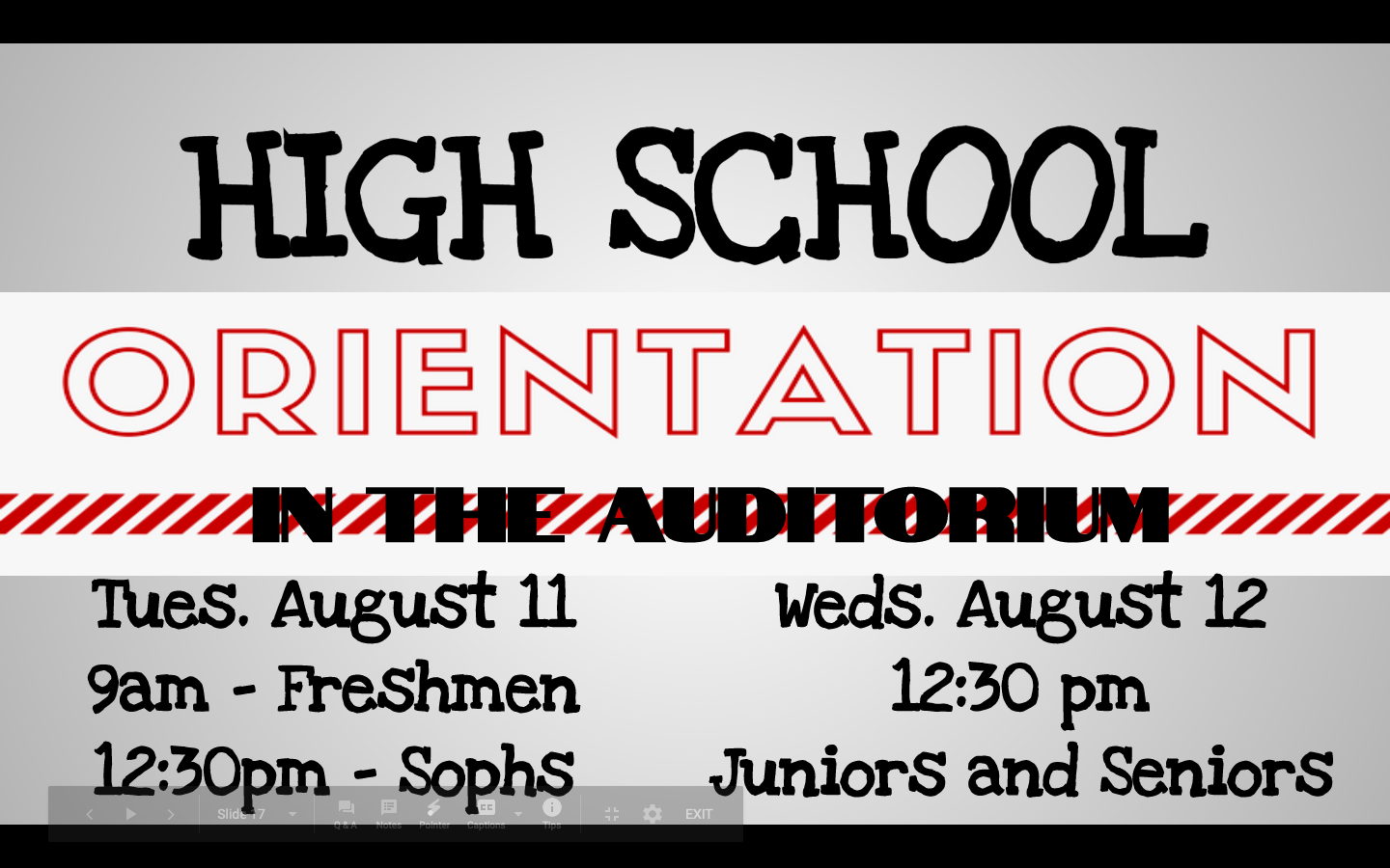 ALL STUDENTS SHOULD ATTEND