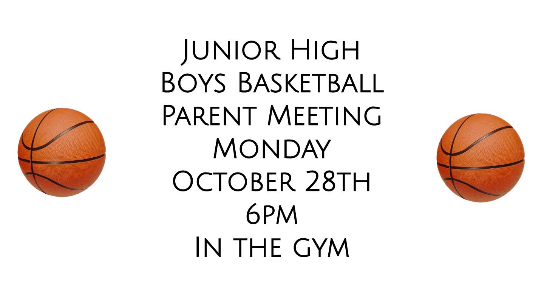 JH Boys Basketball Parent Meeting