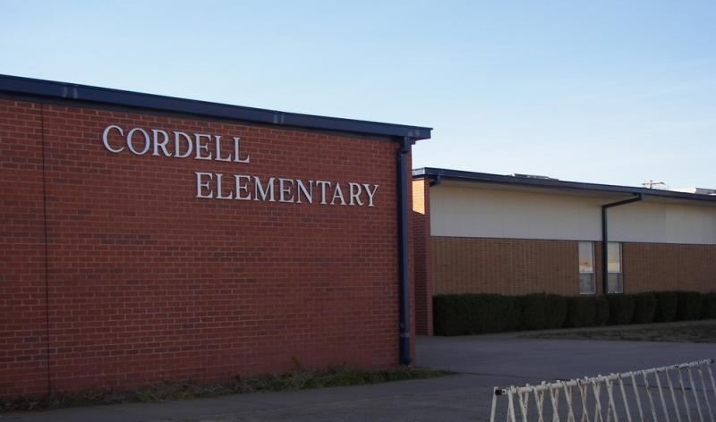 Landscape View facing Cordell Elementary School