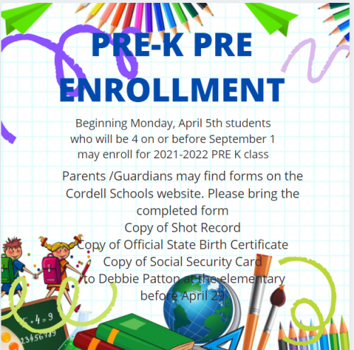 Pre-K Pre Enrollment