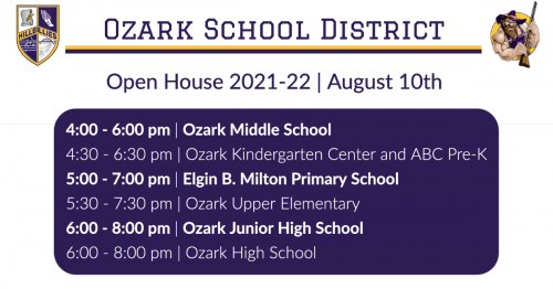 OSD Open House Info. Click for readable file.