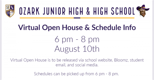 Virtual Open House. Click for readable file.