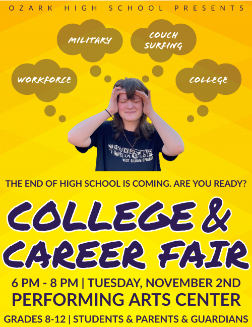 Ozark High School College & Career Fair. Click for readable file.
