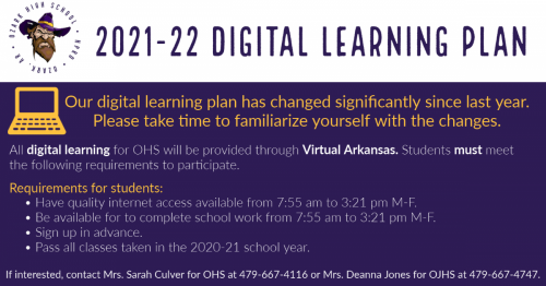 Digital learning plan. Click for readable file.