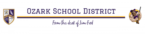 Ozark School District - from the desk of Jim Ford