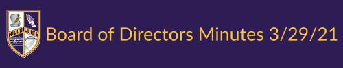 Board of Directors Minutes 3/29/21
