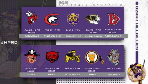 2021 Football Schedule. Click for readable file.