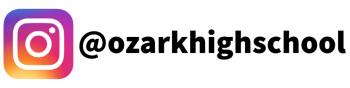 Instagram logo with @ozarkhighschool