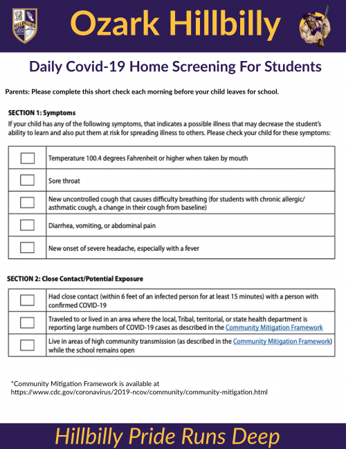 Covid-19 Screener. Click for readable image.