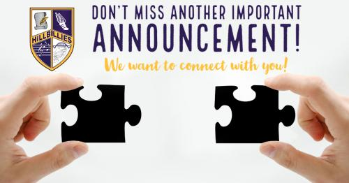 Don't miss another important announcement! We want to connect with you!