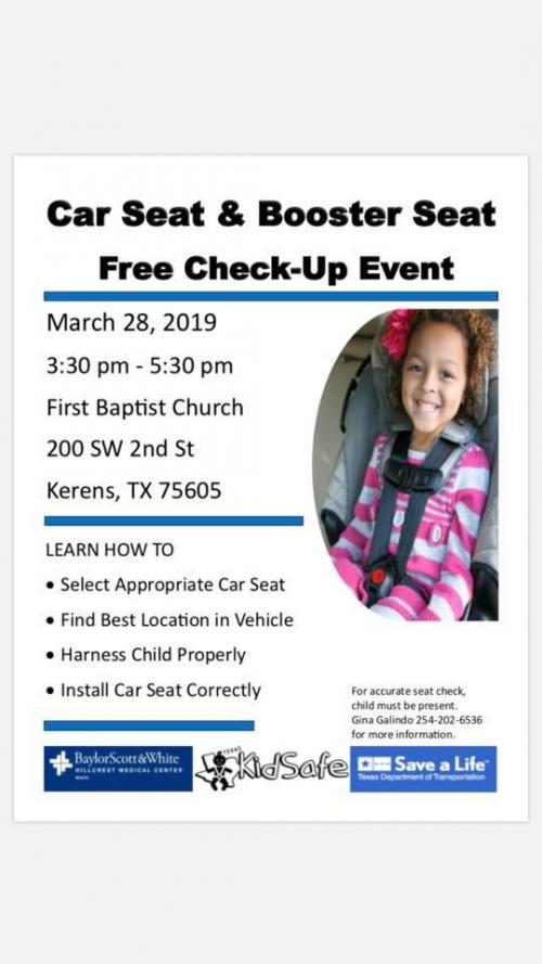 Car Seat and Booster Seat Free Check Up
