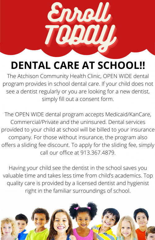 Atchison Community Health Clinic Dental Outreach Consent form for 2021-2022 School year