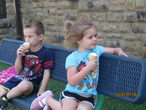 Ice cream on a hot day, yeah.