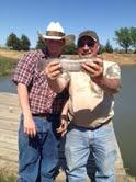 Les and Anthony with Rainbow Trout