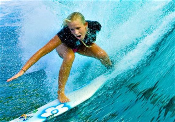 Bethany Hamilton, a profession surfer, was attacked by a shark at the age of 13 and lost her left arm.  She returned to surfing only a month later.
