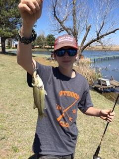 Sean with a largemouth bass.