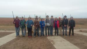Everyone had a chance to get in some clay target shooting, and the fish was good