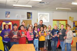 6th grade students were able to meet with Arkansas author, James Babb, and have him sign their books.