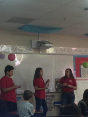 High School students talk to 3rd graders about tobacco prevention!