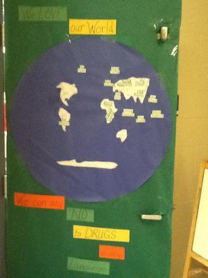 Mrs. Evans' door
