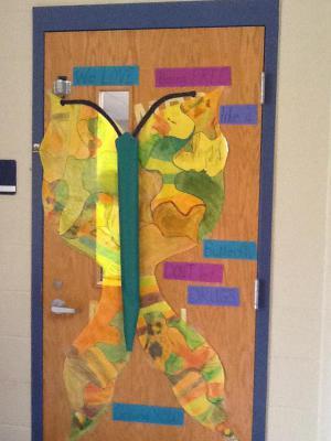Mrs. Hill's door