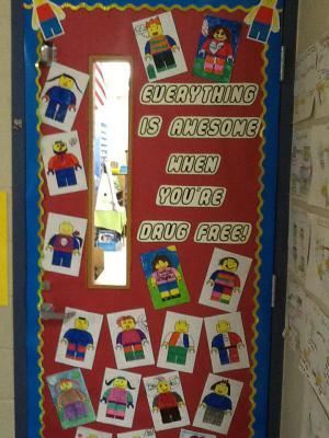 Mrs. Morris' door