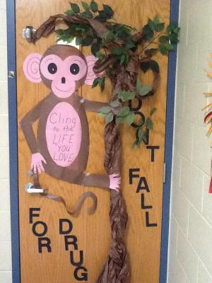 Mrs. Wade's door (created by Jana Fancher)