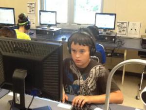Peyton concentrating.
