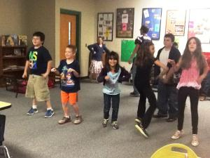 Dancing with the big cats in music class!