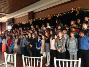 5th graders sing at the Crescent Hotel