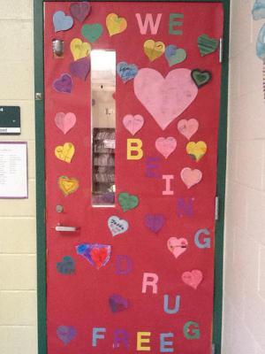 Mrs. Hood's door