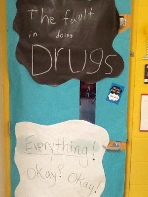 Mrs. Ray's door