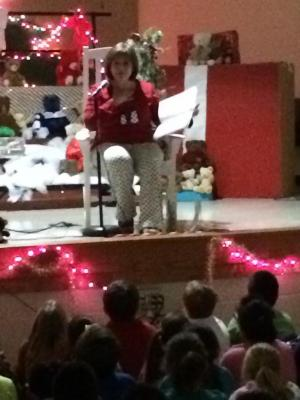 A Holiday Tradition: Storytime with Dr. Geren followed by freshly baked cookies.