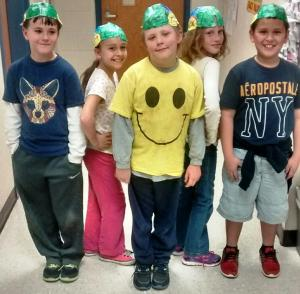 Mrs. Hood's students are showing off their brains madein science class!