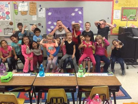 Mrs. Summers' class with their Big Cat
