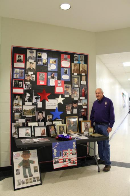 Our very own Mr. Jackie, our school's veteran