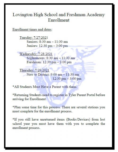 LhS Enrollment
