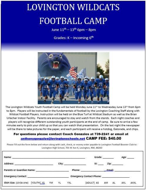Wildcat Football Camp