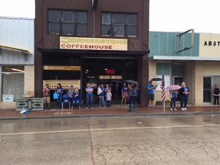 Fans Braving the Rain