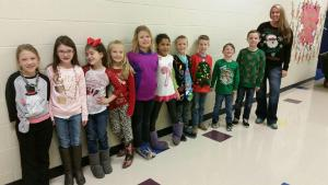 Tacky Christmas sweater day